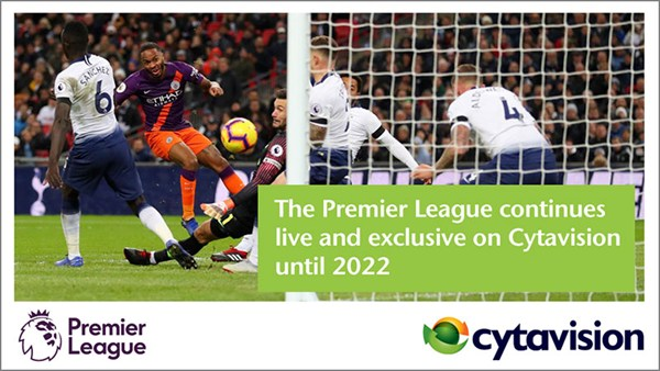 Cytavision renews exclusive audio-visual rights to the FA Premier League until 2022