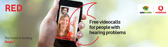 Free videocalls for hearing-impaired person