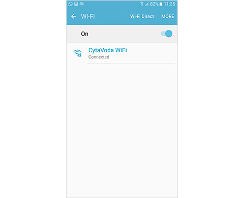 CytaVoda WiFi Screenshot