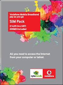 With Vodafone Mobile Broadband Pay As You Go   Cyta